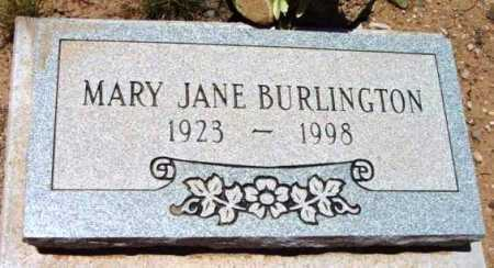 BURLINGTON, MARY JANE - Yavapai County, Arizona | MARY JANE BURLINGTON - Arizona Gravestone Photos