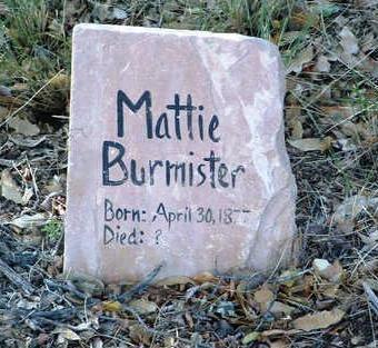 BURMISTER, MATTIE - Yavapai County, Arizona   MATTIE BURMISTER - Arizona Gravestone Photos