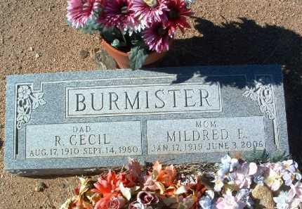 BURMISTER, MILDRED E. - Yavapai County, Arizona | MILDRED E. BURMISTER - Arizona Gravestone Photos
