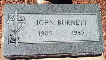 BURNETT, JOHN - Yavapai County, Arizona   JOHN BURNETT - Arizona Gravestone Photos