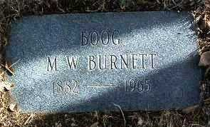BURNETT, MELVIN W.  (BOOG) - Yavapai County, Arizona | MELVIN W.  (BOOG) BURNETT - Arizona Gravestone Photos