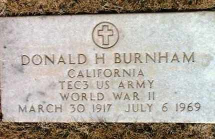 BURNHAM, DONALD H. - Yavapai County, Arizona | DONALD H. BURNHAM - Arizona Gravestone Photos