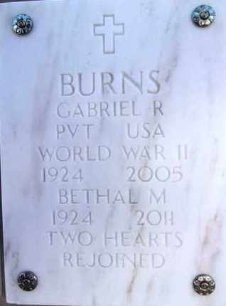 BRYANT BURNS, BETHEL M. - Yavapai County, Arizona | BETHEL M. BRYANT BURNS - Arizona Gravestone Photos
