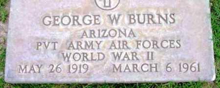 BURNS, GEORGE W. - Yavapai County, Arizona | GEORGE W. BURNS - Arizona Gravestone Photos