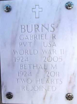 BURNS, GABRIEL RICHARD - Yavapai County, Arizona | GABRIEL RICHARD BURNS - Arizona Gravestone Photos