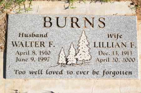 BURNS, WALTER FRANKLIN - Yavapai County, Arizona | WALTER FRANKLIN BURNS - Arizona Gravestone Photos