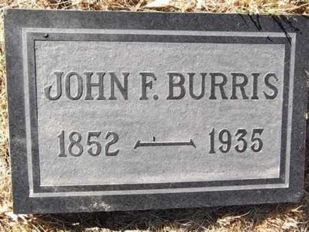BURRIS, JOHN F. - Yavapai County, Arizona | JOHN F. BURRIS - Arizona Gravestone Photos