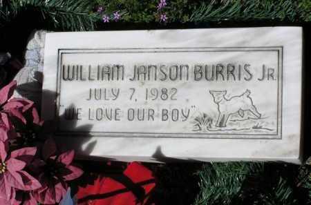 BURRIS, WILLIAM JANSON, JR. - Yavapai County, Arizona   WILLIAM JANSON, JR. BURRIS - Arizona Gravestone Photos