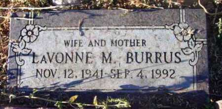 BURRUS, LAVONNE MARIAN - Yavapai County, Arizona | LAVONNE MARIAN BURRUS - Arizona Gravestone Photos