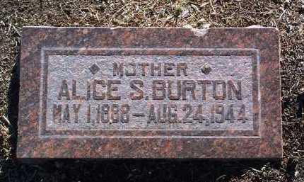 BURTON, ALICE SIDNEY - Yavapai County, Arizona | ALICE SIDNEY BURTON - Arizona Gravestone Photos
