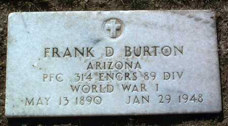 BURTON, FRANK D. - Yavapai County, Arizona | FRANK D. BURTON - Arizona Gravestone Photos