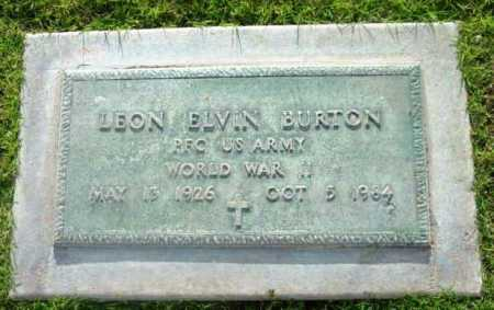BURTON, LEON ELVIN - Yavapai County, Arizona | LEON ELVIN BURTON - Arizona Gravestone Photos