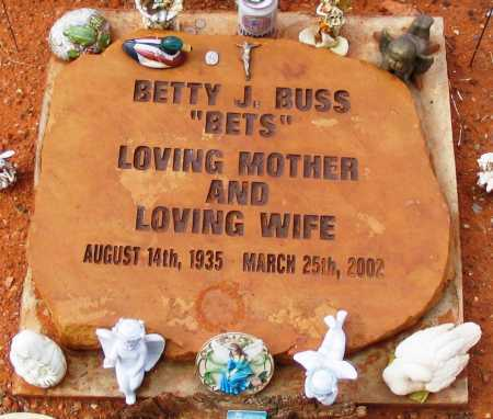 BUSS, BETTY J.  (BETS) - Yavapai County, Arizona | BETTY J.  (BETS) BUSS - Arizona Gravestone Photos