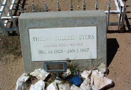 BYERS, THELMA COLLEEN - Yavapai County, Arizona   THELMA COLLEEN BYERS - Arizona Gravestone Photos