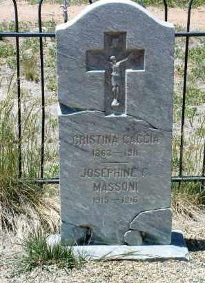 CACCIA, CRISTINA - Yavapai County, Arizona   CRISTINA CACCIA - Arizona Gravestone Photos