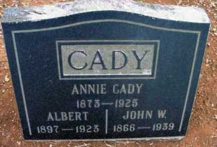 CADY, ALBERT J. - Yavapai County, Arizona | ALBERT J. CADY - Arizona Gravestone Photos