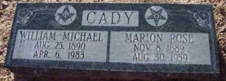 CADY, MARION ROSE - Yavapai County, Arizona | MARION ROSE CADY - Arizona Gravestone Photos