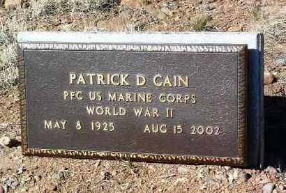 CAIN, PATRICK DEE - Yavapai County, Arizona | PATRICK DEE CAIN - Arizona Gravestone Photos