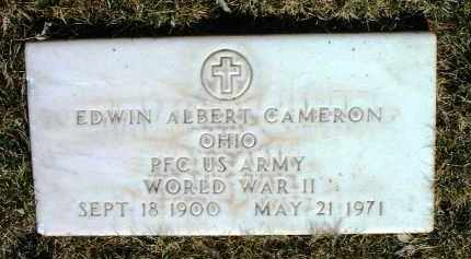 CAMERON, EDWIN ALBERT - Yavapai County, Arizona | EDWIN ALBERT CAMERON - Arizona Gravestone Photos