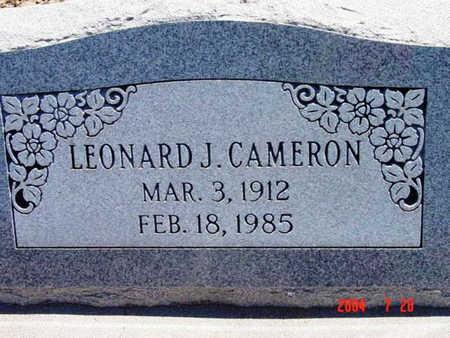 CAMERON, LEONARD JAMES - Yavapai County, Arizona | LEONARD JAMES CAMERON - Arizona Gravestone Photos