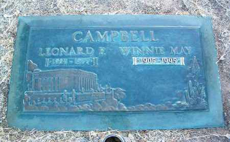 CAMPBELL, LEONARD F. - Yavapai County, Arizona | LEONARD F. CAMPBELL - Arizona Gravestone Photos