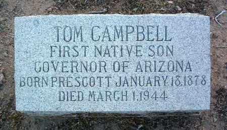 CAMPBELL, THOMAS EDWARD - Yavapai County, Arizona | THOMAS EDWARD CAMPBELL - Arizona Gravestone Photos