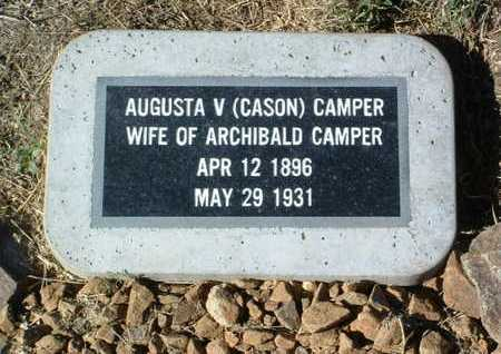 CAMPER, AUGUSTA V. - Yavapai County, Arizona | AUGUSTA V. CAMPER - Arizona Gravestone Photos