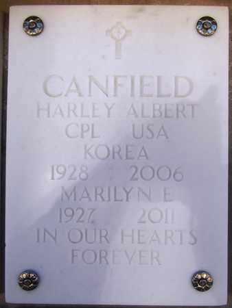 CANFIELD, HARLEY ALBERT - Yavapai County, Arizona   HARLEY ALBERT CANFIELD - Arizona Gravestone Photos