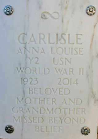 CARLISLE, ANNA LOUISE - Yavapai County, Arizona | ANNA LOUISE CARLISLE - Arizona Gravestone Photos