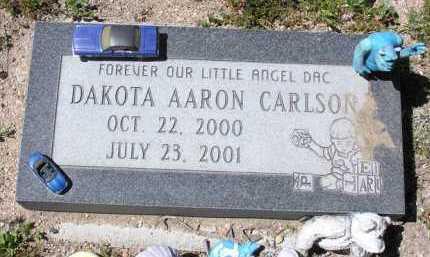 CARLSON, DAKOTA AARON - Yavapai County, Arizona | DAKOTA AARON CARLSON - Arizona Gravestone Photos