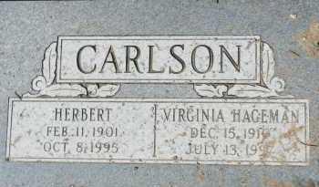 CARLSON, VIRGINIA - Yavapai County, Arizona | VIRGINIA CARLSON - Arizona Gravestone Photos
