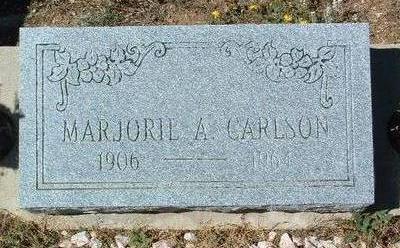 CARLSON, MARJORIE A. - Yavapai County, Arizona   MARJORIE A. CARLSON - Arizona Gravestone Photos