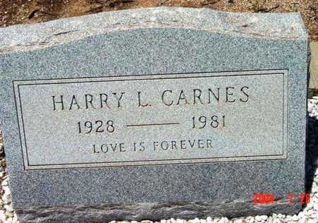 CARNES, HARRY L. - Yavapai County, Arizona | HARRY L. CARNES - Arizona Gravestone Photos