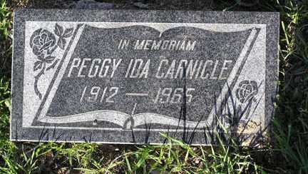 CARNICLE, PEGGY IDA - Yavapai County, Arizona   PEGGY IDA CARNICLE - Arizona Gravestone Photos