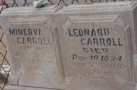 CARROLL, LEONARD - Yavapai County, Arizona   LEONARD CARROLL - Arizona Gravestone Photos