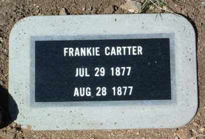 CARTTER, FRANKIE - Yavapai County, Arizona | FRANKIE CARTTER - Arizona Gravestone Photos