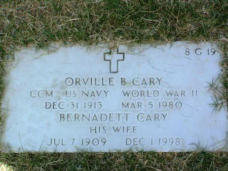 CARY, ORVILLE B. - Yavapai County, Arizona | ORVILLE B. CARY - Arizona Gravestone Photos