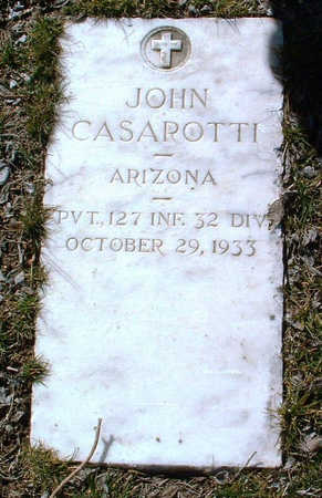 CASAROTTI, JOHN - Yavapai County, Arizona | JOHN CASAROTTI - Arizona Gravestone Photos