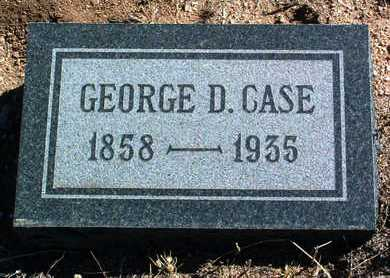 CASE, GEORGE D. - Yavapai County, Arizona | GEORGE D. CASE - Arizona Gravestone Photos