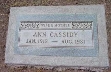 CASSIDY, ANN - Yavapai County, Arizona | ANN CASSIDY - Arizona Gravestone Photos