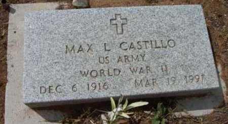 CASTILLO, MAX L. - Yavapai County, Arizona | MAX L. CASTILLO - Arizona Gravestone Photos