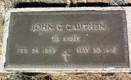 CAUTHEN, JOHN C. - Yavapai County, Arizona | JOHN C. CAUTHEN - Arizona Gravestone Photos
