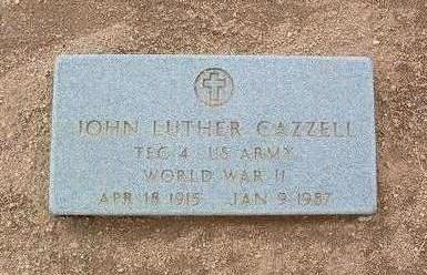 CAZZELL, JOHN LUTHER - Yavapai County, Arizona | JOHN LUTHER CAZZELL - Arizona Gravestone Photos