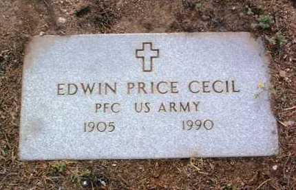 CECIL, EDWIN PRICE - Yavapai County, Arizona | EDWIN PRICE CECIL - Arizona Gravestone Photos