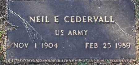 CEDERVALL, NEIL E. - Yavapai County, Arizona | NEIL E. CEDERVALL - Arizona Gravestone Photos