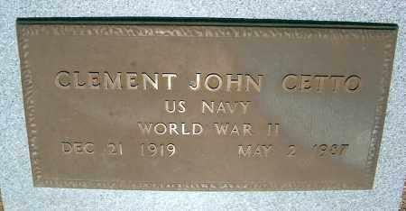 CETTO, CLEMENT JOHN - Yavapai County, Arizona   CLEMENT JOHN CETTO - Arizona Gravestone Photos