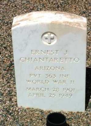 CHIANTARETTO, ERNEST J. - Yavapai County, Arizona   ERNEST J. CHIANTARETTO - Arizona Gravestone Photos