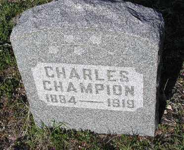 CHAMPION, CHARLES - Yavapai County, Arizona | CHARLES CHAMPION - Arizona Gravestone Photos