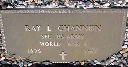 CHANNON, RAY L. - Yavapai County, Arizona   RAY L. CHANNON - Arizona Gravestone Photos