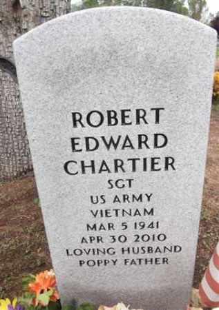 CHARTIER, ROBERT EDWARD - Yavapai County, Arizona   ROBERT EDWARD CHARTIER - Arizona Gravestone Photos